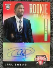 JOEL EMBIID #24/25 2014-15 TOTALLY CERTIFIED  AUTO PHILADELPHIA 76ERS RC