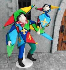 dolls house medieval / Tudor JESTER / FOOL porcelain doll HANDMADE unique NEW