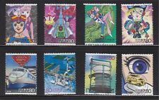 JAPAN 2005 SCIENCE TECHOLOGY & ANIMATION SERIES ISSUE 7 TIME BOKAN 8 STAMPS USED