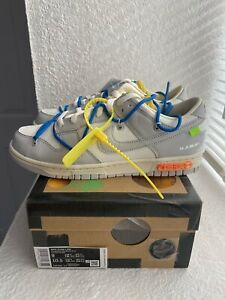 Nike Dunk Low Off-White Lot 10 Size 9 DM1602-112 DS New Sail Yellow Blue