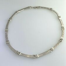 "STERLING SILVER LINK NECKLACE 19""INCH  #21"