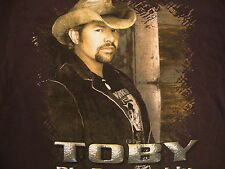 Toby Keith Big Dog Daddy Country Music Concert Tour Souvenir Brown T Shirt M