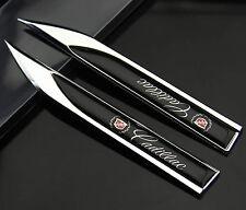 2pcs Auto Car Metal Knife Badge Emblem Decal Sticker For Black  Racing Sports