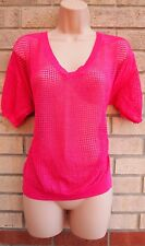 NEXT PINK FUCHSIA GOLD GLITTER KNIT CARDIGAN TUNIC CAMI TOP BLOUSE VEST 14 L