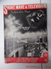 1938 Short Wave & Television Magazine August Hugo Gernsback Vintage Radio More