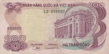 200 DONG VERY FINE BANKNOTE FROM SOUTH VIETNAM 1970 PICK-27