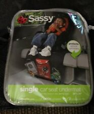 "Sassy Single Car Seat Undermat 36"" X 20"" Absorbs Spills 3 Storage Compartments"