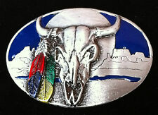 Cool Western Texas Longhorns Cowboy Rodeo Belt Buckle Boucle de Ceinture