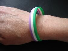 GENDERQUEER -  LGBT Pride Silicone Gay Lesbian Wristband Bracelet