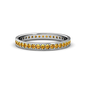 Citrine Womens Eternity Ring Stackable 0.48 ctw* 14K Gold JP:21066