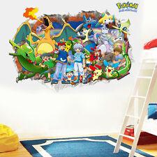 Fucsia 3D Pokémon Go Lindo Pikachu Adhesivos De Pared Pegatina Vinilo Mural