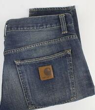 CARHARTT BUCCANEER PANT Men's W33/L32 Fade Effect Button Fly Jeans 24543-JS