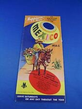 HAPPINESS TOURS MEXICO ADVERTISING BROCHURE FLYER 1954-55 FLY AMERICAN AIRLINES