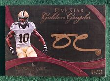 Brandin Cooks AUTO rookie card RARE #d /25 - 2014 Saints & Texans autograph RC