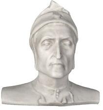 "Dante Alighieri the Poet Bust Head 13"" Museum Sculpture Replica Reproduction"