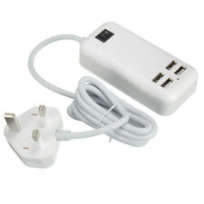 Claite 4 Ports USB 3A Extension Socket Outlet Hub Charger Power Adapter EU UK US