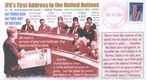 COVERSCAPE computer designed 60th anniversary JFK's 1st address to the UN cover
