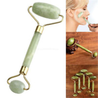 Natural Guasha Facial Jade Roller Face Thin+Body Gua Sha Board Massager Tool Kit