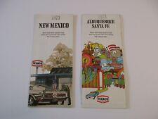 Lot 2 Texaco 1973 Alburquerque Santa Fe City & New Mexico Gas Station Road Map