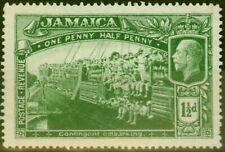 More details for jamaica 1919 1 1/2d green sg80a major re-entry fine mnh