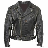 New German Luftwaffe Men/'s Black Biker Style Faux Leather Jacket FS69