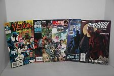 Large Lot of 7 Random Comic Books Marvel Venom, Daredevil, Origins of Siege