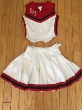 Vintage 1980's Cheerleader School Uniform 2 Piece Top Size 34/16 Skirt Size 11