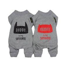 Fitwarm 2-Pack 100% Cotton Pet Clothes for Dog Pajamas Jumpsuit Grey Cat Shirt