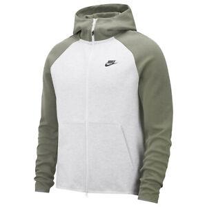 Nike Sportswear Tech Fleece Full-Zip Hoodie Birch Green Size L Large 928483 053