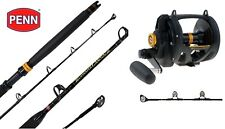 Penn Squall 50VSW 2 Speed Lever Drag FULL ROLLER 24kg Game Fishing Rod Combo
