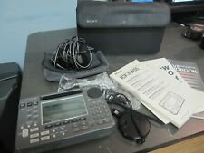 MUST SEE!!! Sony ICF-SW55 Portable World Band Shortwave Radio Receiver, BUNDLE