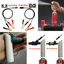 Car Universal Fuel Injector Flush Nozzle Cleaner Adapter DIY Kit Cleaning Tool