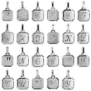 Buchstaben Anhänger - Echtschmuck 925 Silber - auf Wunsch mit Kette - NEU