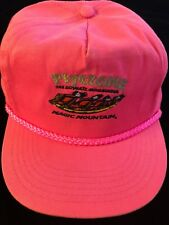 Vintage Psyclone Hat  Roller Coaster Magic Mountain Rare Hot Pink 90s Retro