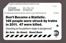 NYC MetroCard Mta Transit_DON'T BECOME A STATISTIC _expired Metro Card