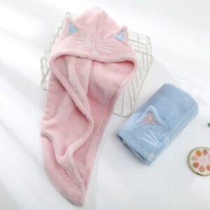 Microfiber Hair Towel Quick Drying Bath Turban Hair Dry Cap Wrap Home Bath Tools