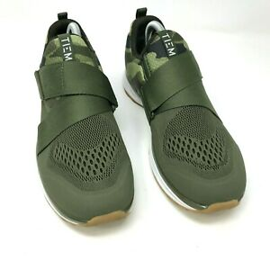 TIEM Slipstream Cycling Sneaker Green Camo Size US 9.5 UK 7 EUR 4.5 Shoes