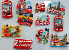 More details for 3d ceramic fridge magnet london icons souvenir fridge magnets multipack uk stock