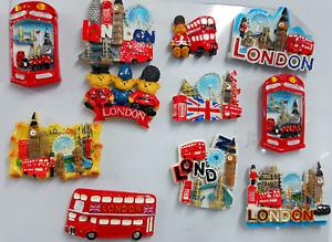 3D CERAMIC FRIDGE MAGNET LONDON ICONS SOUVENIR Fridge Magnets Multipack UK stock