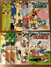 Walt Disney Comics And Stories Lot Of 12, No. 521-530. VF/NM