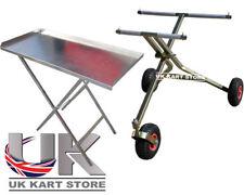 3 RUOTE Go Kart Trolley Scissor & ripiegare tavolo lavoro UK KART Store