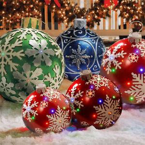 60CM Christmas Gift Inflatable Ball Outdoor Home Decoration Christmas Balls