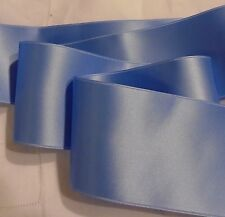 """2-3/4"""" Wide Swiss Double Face Satin Ribbon - Blue Iris - By The Yard"""