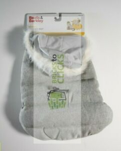 Boots & Barkley- Leg Hole Snaps Dog Puffer- Small - Gray Tweed up to 20lbs