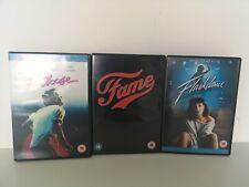 Fame (DVD, 2003), Footloose (DVD, 1984), Flashdance (DVD 1983) bundle