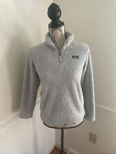 Patagonia Girls' Los Gatos 1/4 Zip Gray Fleece Pullover Jacket Sz 14 Xl