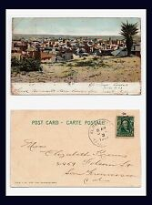 TEXAS EL PASO VIEW FROM HILL POSTED 1907 TO ELIZABETH KRAUS IN SAN FRANCISCO