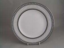 "WEDGWOOD COLONNADE CONTRASTS BLACK 8"" DESSERT PLATE."