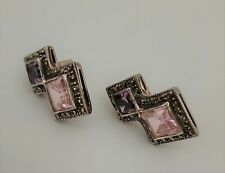 Marcasite Pierced Earrings New listing