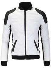 Unbranded Men's Faux Leather Biker Coats & Jackets